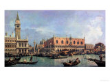 The Molo and the Piazzetta San Marco, Venice Giclée-tryk af Canaletto