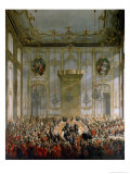 Court Banquet in the Great Antechamber of the Hofburg Palace, Vienna Giclee Print by Martin van Meytens