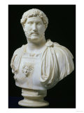 Bust of the Emperor Hadrian, circa 130 AD Giclee Print