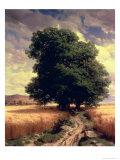 Alexandre Calame - Landscape with Oaks, 1859 Digitálně vytištěná reprodukce