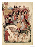 "Abu Zayd and Al-Harith Questioning Villagers from ""The Maqamat"" by Al-Hariri Giclee Print"