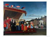 The Representatives of Foreign Powers Coming to Salute the Republic as a Sign of Peace, 1907 Giclee Print by Henri Rousseau