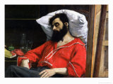 "The Convalescent, or the Wounded Man, Detail from ""The Visit to the Convalescent"", circa 1860 Giclee Print by Charles Émile Carolus-Duran"