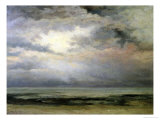 L'Immensite Reproduction giclée Premium par Gustave Courbet