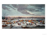 Frost Fair on the River Thames Near the Temple Stairs in 1683-84 Premium Giclee Print by Thomas Wyke