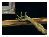 Crucifixion from the Isenheim Altarpiece, Detail of Christ's Right Hand, circa 1512-16 Giclee Print by Matthias Grünewald