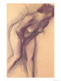 Female Standing Nude Giclee Print by Edgar Degas
