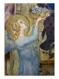Maesta: Angel Offering Flowers to the Virgin, 1315 Giclée-Druck von Simone Martini