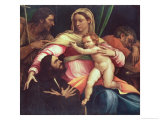 Madonna and Child with Ss. Joseph and John the Baptist and a Donor Giclee Print by Sebastiano del Piombo