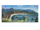 Messina - a Panoramic View of the Port Giclee Print by Juan Ruiz Melgarejo