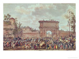The Entry of the French into Milan Giclee Print by Antoine Charles Horace Vernet