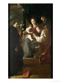 Mystical Marriage of St. Catherine and the Christ Child with Peter the Martyr, 1617-21 Giclee Print by Domenico Fetti
