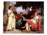 Horace, Virgil and Varius at the House of Maecenas Giclee Print by Charles Francois Jalabert