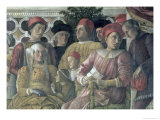 Marchese Ludovico Gonzaga III of Mantua, His Wife Barbara of Brandenburg Giclee Print by Andrea Mantegna