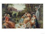 A Picnic Giclee Print by V. Chavigny
