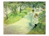 Promenaders in the Garden, 1898 Giclee Print by Childe Hassam