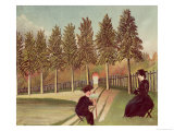 The Artist Painting His Wife, 1900-05 Giclee Print by Henri Rousseau