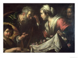 The Miracle of St. Zita Lámina giclée por Bernardo Strozzi