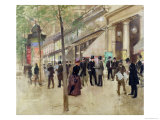 The Boulevard Montmartre and the Variety Theatre, circa 1886 Giclee Print by Jean Béraud