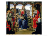 Nerli Altarpiece: Madonna and Child with the Young St. John the Baptist Giclee Print by Filippino Lippi