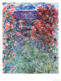 The House at Giverny Under the Roses, 1925 Giclée-tryk af Claude Monet
