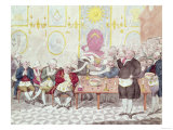 """A Masonic Anecdote, a Description of the Exposure of a Fraud, """"Balsamo"""" at a Lodge in London, 1786 Giclee Print"""