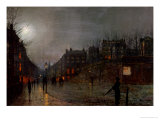Going Home at Dusk, 1882 Giclee Print by John Atkinson Grimshaw