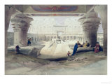 View from Under the Portico of Temple of Edfou, Upper Egypt Premium Giclee Print by David Roberts