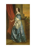 Lucy Percy, Countess of Carlisle circa 1637 Giclée-Druck von Sir Anthony Van Dyck