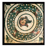 Bear's Head, Roman Mosaic, Early 4th Century (Mosaic) Giclee Print by  Roman