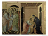 Maesta: the Virgin Says Farewell to St. John, 1308-11 Gicle-tryk af Duccio di Buoninsegna
