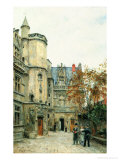 The Courtyard of the Museum of Cluny, circa 1878-80 Giclee Print by Stanislas Victor Edouard Lepine