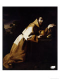St. Francis in Meditation, 1639 Giclee Print by Francisco de Zurbarán