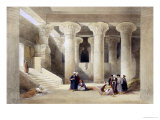 "Interior of the Temple at Esna, Upper Egypt, from ""Egypt and Nubia"", Vol.1 Giclee Print by David Roberts"