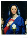 The Virgin of the Host, 1866 Giclee Print by Jean-Auguste-Dominique Ingres