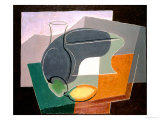 Fruit-Dish and Carafe, 1927 Reproduction proc&#233;d&#233; gicl&#233;e par Juan Gris