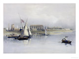 "General View of the Ruins of Luxor from the Nile, from ""Egypt and Nubia"", Vol.1 Giclee Print by David Roberts"