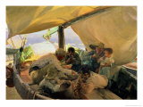 Lunch on the Boat, 1898 Reproduction proc&#233;d&#233; gicl&#233;e par Joaqu&#237;n Sorolla y Bastida
