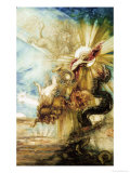 The Fall of Phaethon Premium Giclee Print by Gustave Moreau