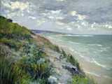 Cliffs by the Sea at Trouville Reproduction procédé giclée par Gustave Caillebotte