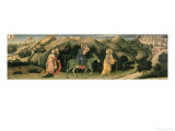 Adoration of the Magi Altarpiece; Central Predella Panel Depicting the Flight into Egypt, 1423 Giclee Print by Gentile Da Fabriano