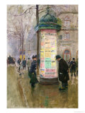 The Colonne Morris, circa 1885 Giclee Print by Jean Béraud
