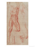 Study of a Male Nude, Stretching Upwards Giclee Print by  Michelangelo Buonarroti