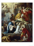 St. Januarius Visited in Prison by Proculus and Sosius Giclée-tryk af Francesco Solimena