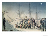 """Incidents on Trading Journey: Men Playing Football on Board Hms """"Terror"""", 1846 by Lieutenant Smyth Giclee Print by Lieutenant Smyth"""