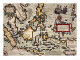 Map of the East Indies, Pub. 1635 in Amsterdam Giclee Print