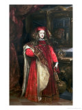 King Charles II of Spain Wearing the Robes of the Order of the Golden Fleece Giclee Print by Don Juan Carreño de Miranda