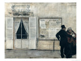 Guests Waiting for the Wedding Ceremony Giclee Print by Jean Francois Raffaelli