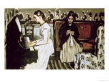 Girl at the Piano, 1868-69 Giclee Print by Paul Cézanne