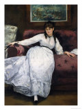 The Rest, Portrait of Berthe Morisot, 1870 Giclee Print by Édouard Manet